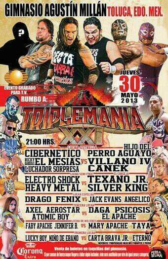 "AAA Sin Límite: Canek regresa / Gimnasio ""Agustín Millán"" de Toluca, Edomex - 30 de mayo de 2013 / Image by @TheTayaValkyrie en Twitter"