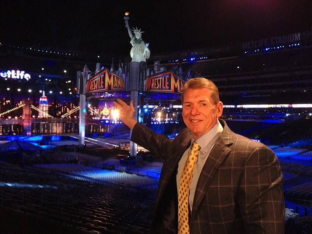 Vince Mc Mahon en Wrestlemania 29 // imagen por Twitter @VinceMcMahon