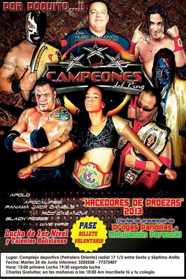 Hugo Savinovich con Campeones del Ring en Hacedores de Proezas (25/6/13 - Bolivia)