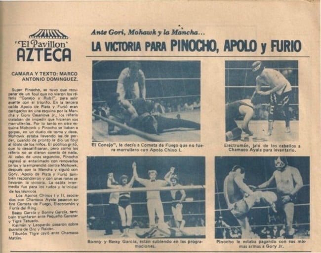 Reporte desde el Pavillón Azteca en la revista Box y Lucha