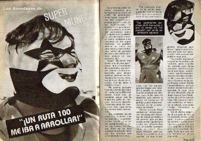 Súper Muñeco en la Revista Lucha Libre