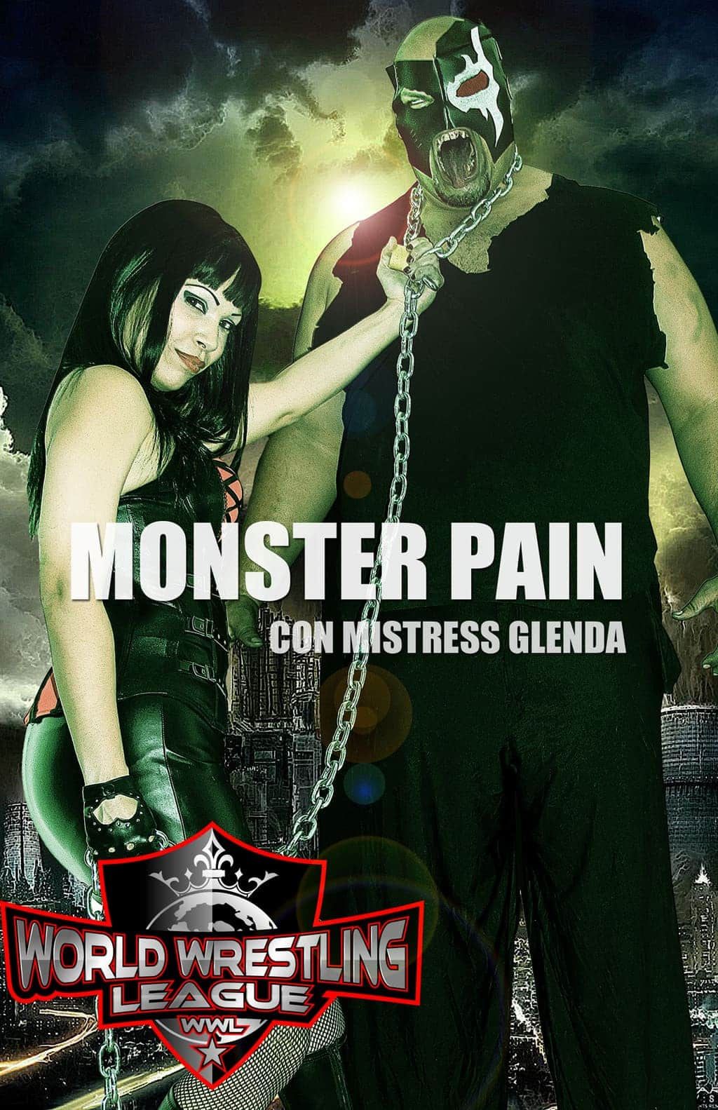 Monster Pain con Mistress Glenda Lee (WWL - World Wrestling League)