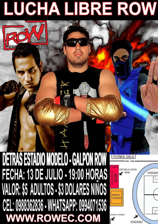 """ROW Ecuador: evento """"Venganza"""" 1"""