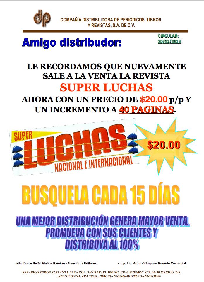 Circular de la Compañía Distribuidora de Periódicos, Libros y Revistas