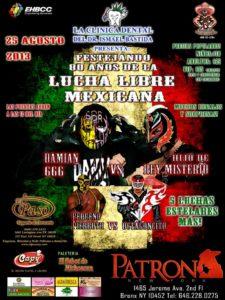 Festejando 80 Años de la Lucha Libre Mexicana en El Patron Night Club (1465 Jerime Ave. 2nd Flo Fl Bronx NY 10452 – 25/8/13)