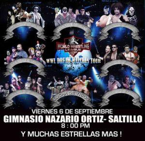 Última Hora: La WWL presentará evento en Saltillo, Coahuila - Cancelado show de WWL en Nuevo Laredo 7
