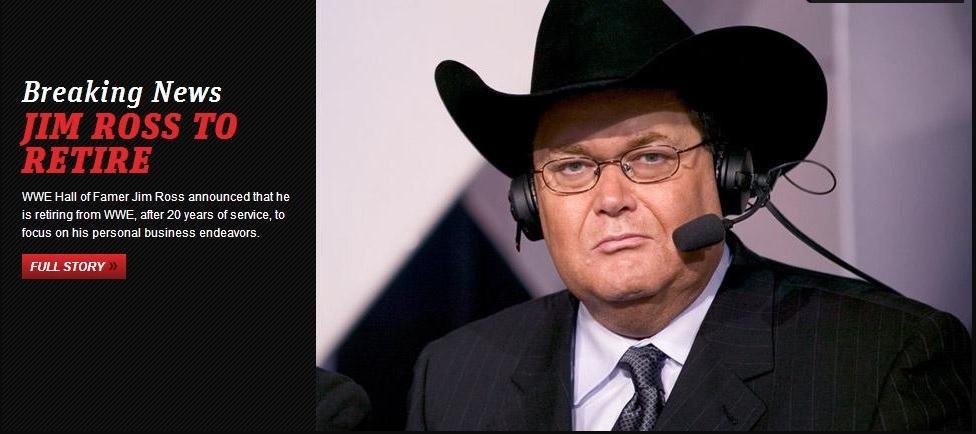 Jim Ross se retira / WWE.com