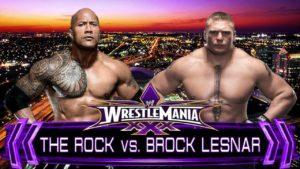 ¿The Rock vs. Brock Lesnar en WWE WrestleMania XXX?