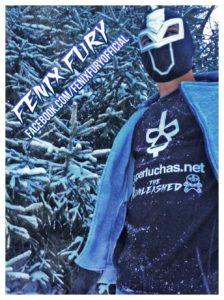 Fenix Fury con la camisa de Superluchas 12
