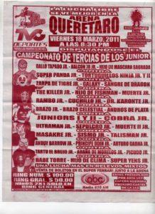 Arena Querétaro: Máscara Sagrada Jr., Halcón 78 Jr. y Gallo Tapado Jr., NUEVOS CAMPEONES DE TERCIAS DE LOS JUNIORS – Picudo Jr., Brazo Celestial, entre otros 4