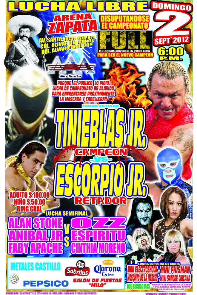 Scorpio Jr. acorrala a Tinieblas por el Campeonato FULL 1