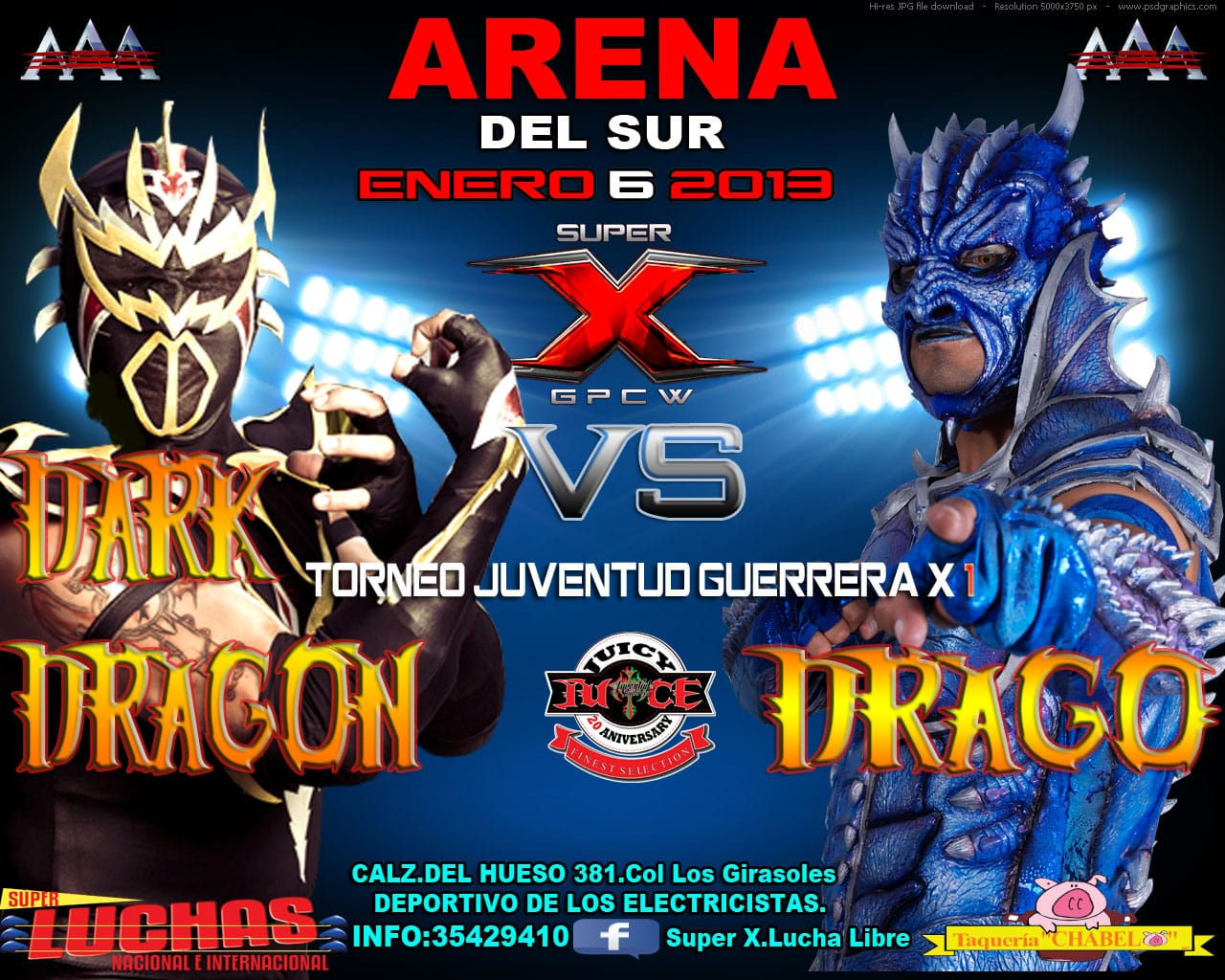 Dark Dragon vs. Drago (Super X - 6/1/2013)