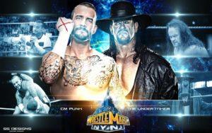 CM Punk vs Undertaker - Wallpaper